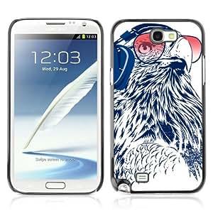 YOYOSHOP [Funny DJ Owl] Samsung Galaxy Note 2 Case