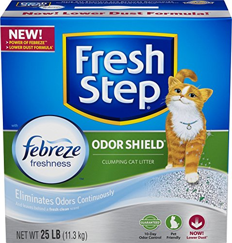 Fresh Step Odor Shield with Febreze Freshness, Clumping Cat Litter, Scented by Fresh Step