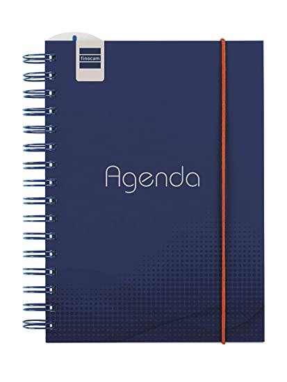 Finocam - Agenda 2019-2020 semana vista vertical español Institut Blue