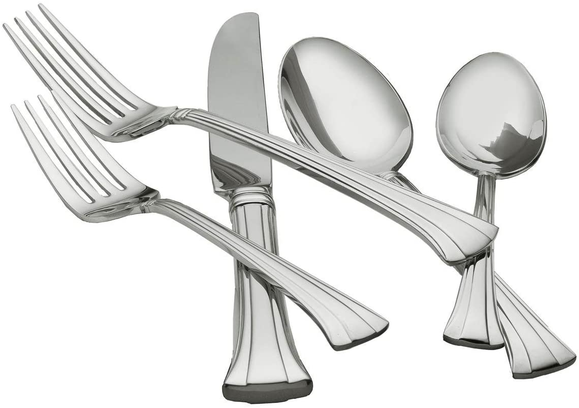 Waterford Mont Clare 18/10 Stainless Steel 65-Piece Set, Service for 12