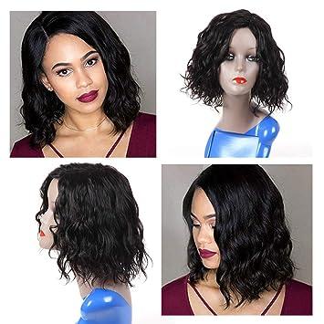 Hua Short Bob Water Wig Human Hair Wigs For Black Women None Lace Frontal Wigs Density