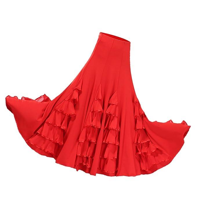 Baoblaze Vestido de Flamenca Ropa de Baile Complimentos de ...