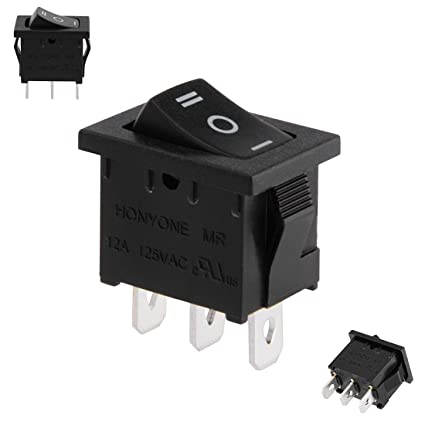 amazon com: uxcell spdt 3p 3 position on-off-on toggle wiring boat rocker  switch black ac 125v/12a 250v/10a: home improvement