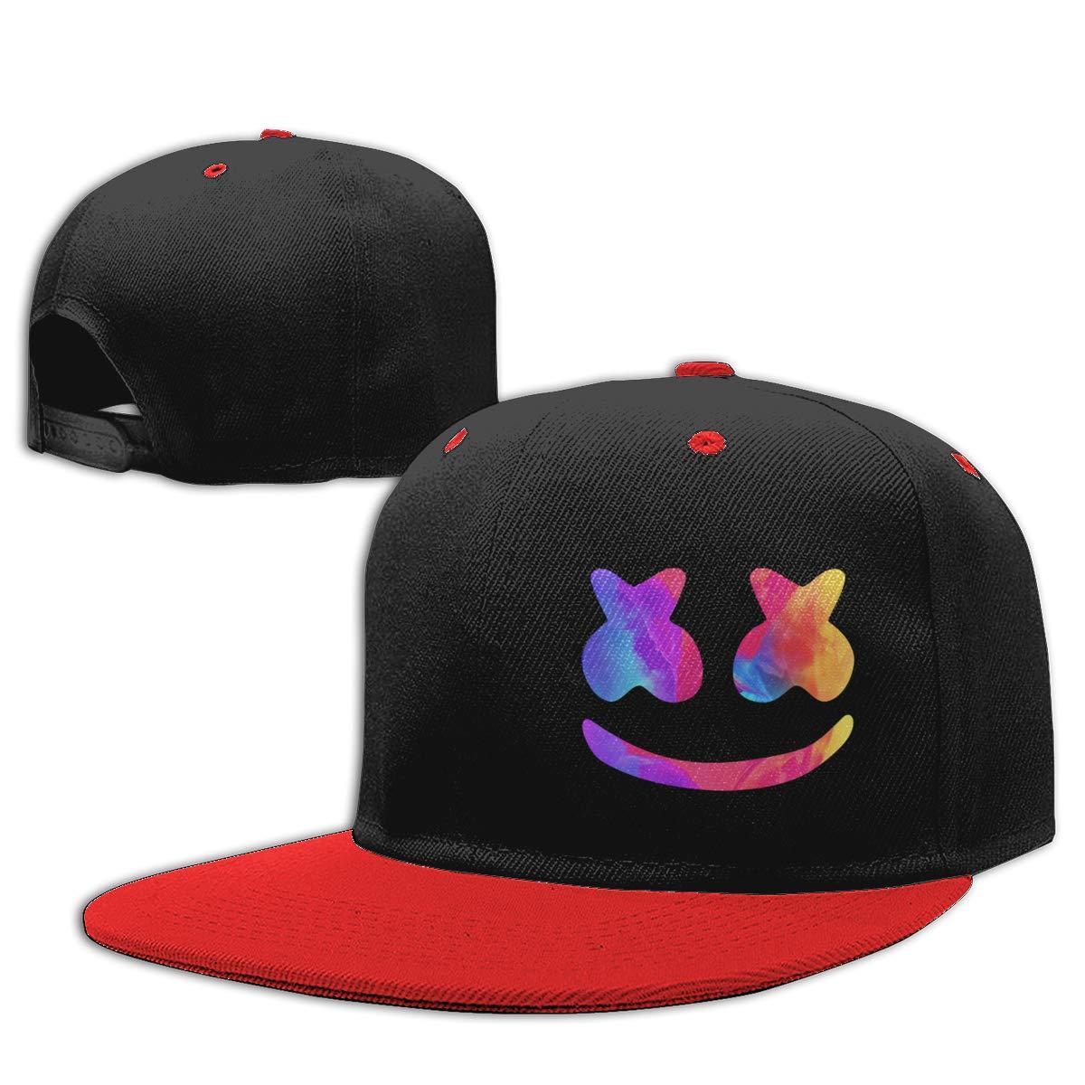 Amazon.com  Fzjy Wnx Marshmello Helmet Hip Hop Baseball Caps Kids Snapback  Hat Girls Boys  Red  Clothing f2989d2bc19