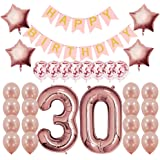 Rose Gold 30th Birthday Decorations Party Supplies Gifts for Women (Her), Dirty 30 Birthday Supply, Number 30 Foil…