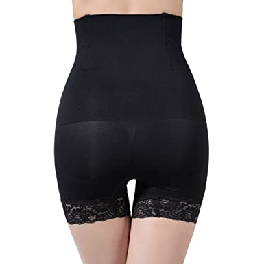 90680f3ea Image Unavailable. Image not available for. Color  CTRICKER Lace High Waist  Girdle Body Shaper Underwear Slimming Tummy Panties