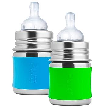 Amazon.com: Pura Kiki – Biberón de acero inoxidable bebé ...