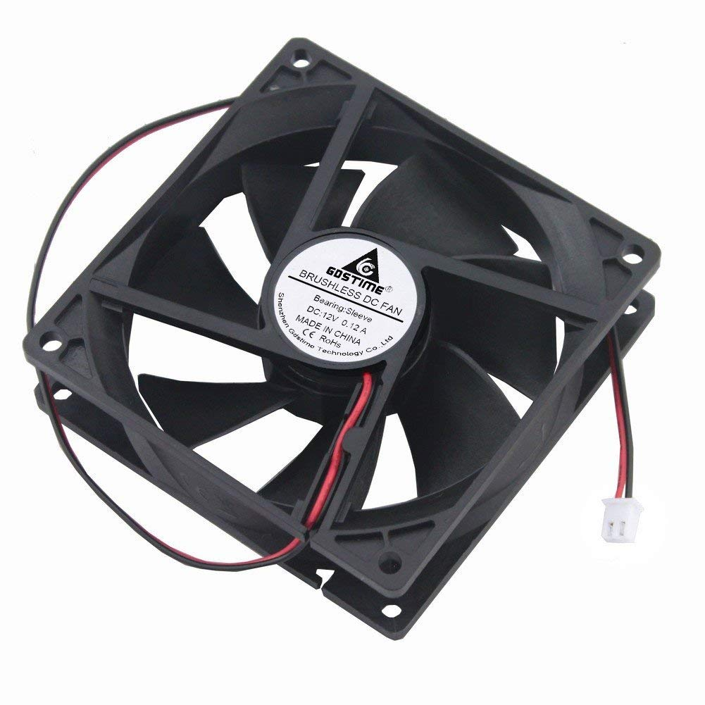 Fan Cooler 92mm X 92mm X 25mm 90mm 3.6 Inches 12v