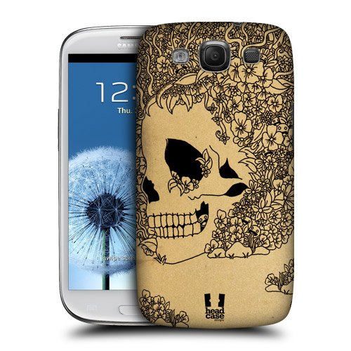 Head Case Designs Bloom Doodle Skull Protective Snap-on Hard Back Case Cover for Samsung Galaxy S3 III I9300