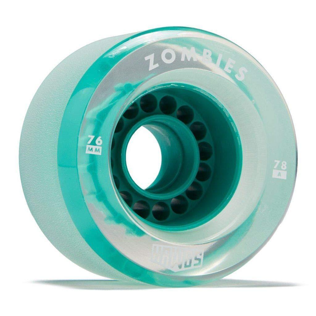 Good Skateboard Clear Zombie 76Mm 78A Pro Longboard Wheels Set of 4 Teal Core