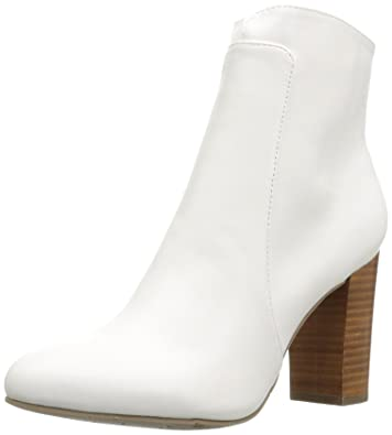 MIA Womens Rosebuds Ankle Bootie White Size 70