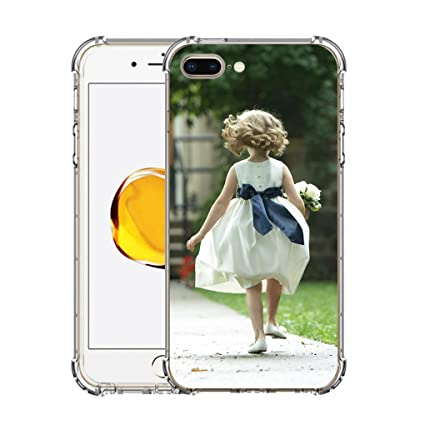 more photos 77154 5da3e Moonlove Personalized Custom Case for iPhone 7/7 Plus/8/8 Plus/X Customized  Picture Photo Cover Case Soft Thin Rubber Silicone Shock Absorbing ...
