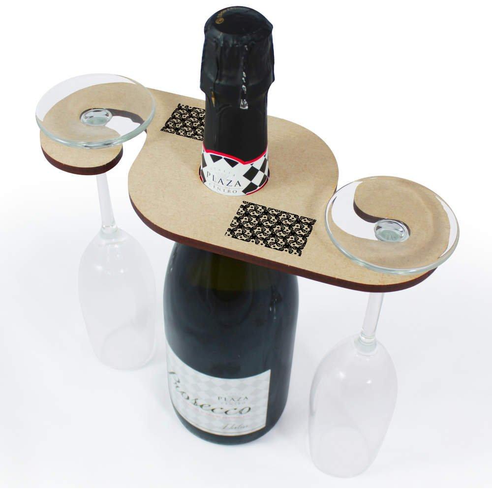 Flaschenhalter GH00031851 Azeeda Blumenmuster Weinglashalter