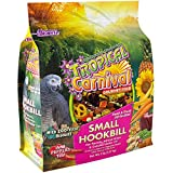 "F.M. Brown's Tropical Carnival Gourmet Bird Food for Parrots, African Greys, and Conures Under 13"" - Probiotics for Digestive Health, Vitamin-Nutrient Fortified Daily Diet"