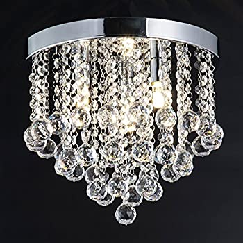 Superieur ZEEFO Crystal Chandelier, Modern Chandeliers Crystal Ball Light Fixture, 3  Lights, Flush Mount