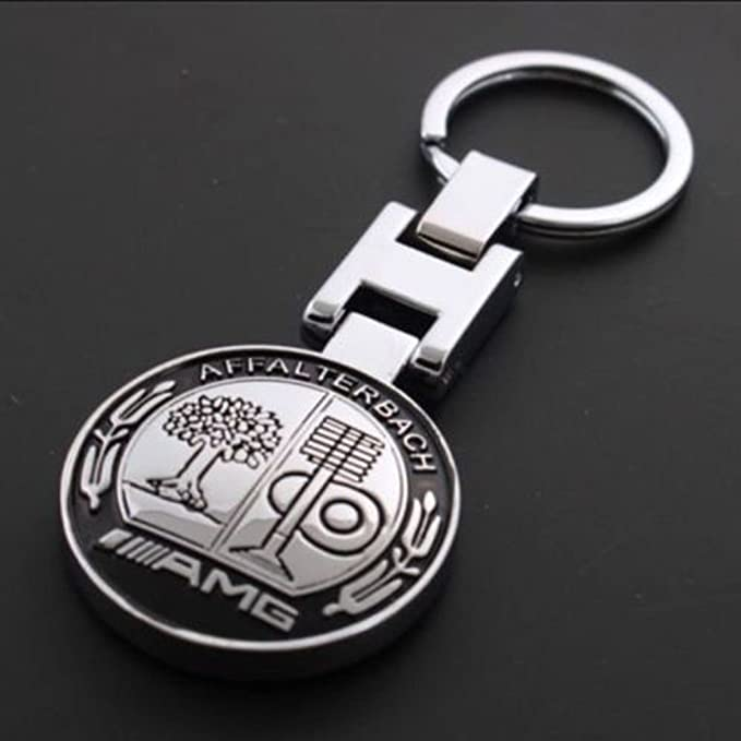UNAKIM--Metal Mercedes Benz AMG Keychain Creative Accessories Auto Parts SUV Car Keyring