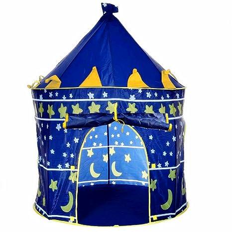 Tienda Campaña Infantil para Niños y Niñas Casa Castillo de Juego Plegable para Interior y Exterior