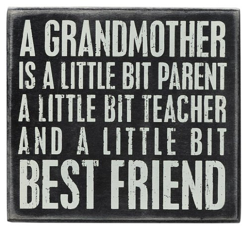 Primitives by Kathy Box Sign, 6 x 5.5-Inch, Grandmother