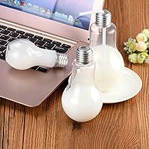 Light Bulb Glass, ODGear Summer Bulb Water Bottle Brief Cute Milk Juice Light Bulbs Kids Cup Kids, Drinking Glass, Cocktail, Beer, Terrarium, Candy Jar (200ml)