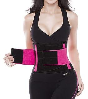 b3cca2fcb4 YIANNA Waist Trimmer Belt Back Support Abdominal Elastic Waist Trainer Body  Shaper