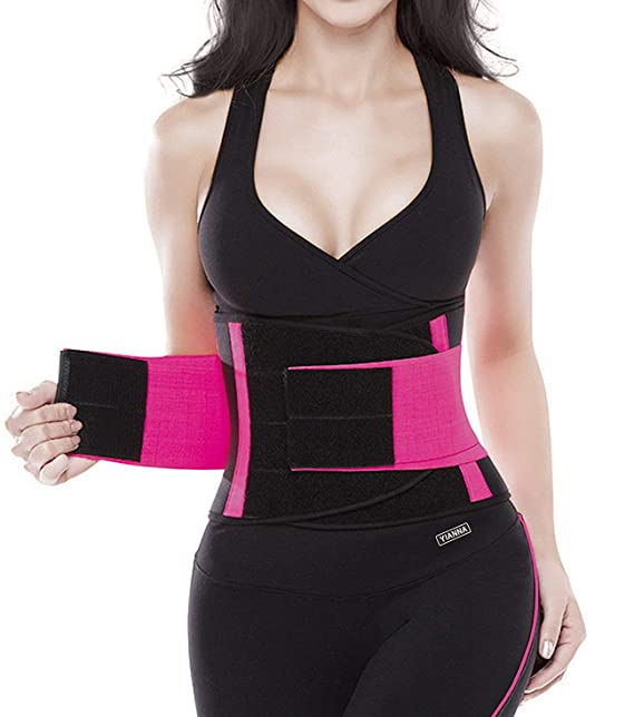 98e8ecb760 YIANNA Women s Waist Trainer Belt-Waist Cincher Trimmer-Slimming Body  Shaper Belt-Sport