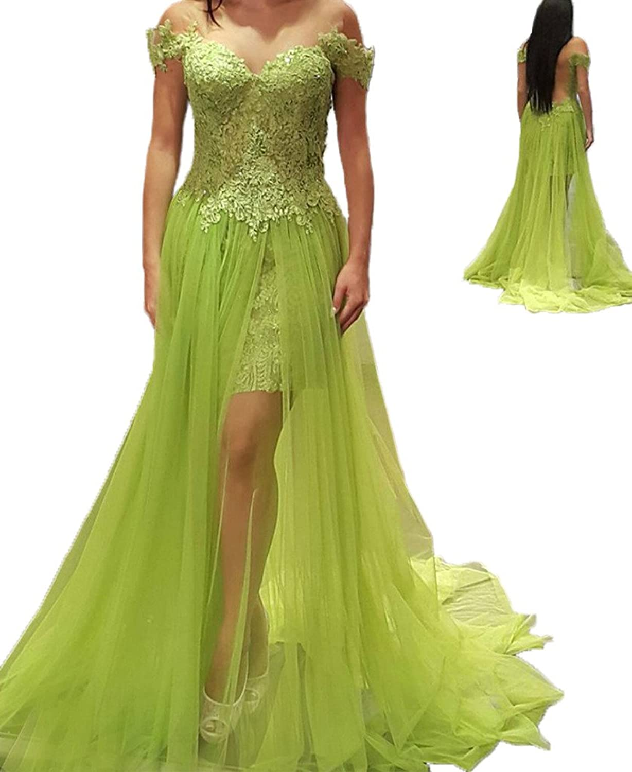 Green evening dress nzx