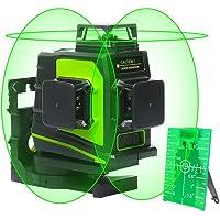 Niveau Laser Huepar GF360G 3 x 360, laser en croix multiligne vert professionnel, Zone de travail de 45m, Auto-nivelant commutable Une ligne à 360°