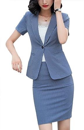 LISUEYNE Completo da Donna in Due Pezzi per Ufficio e Lavoro