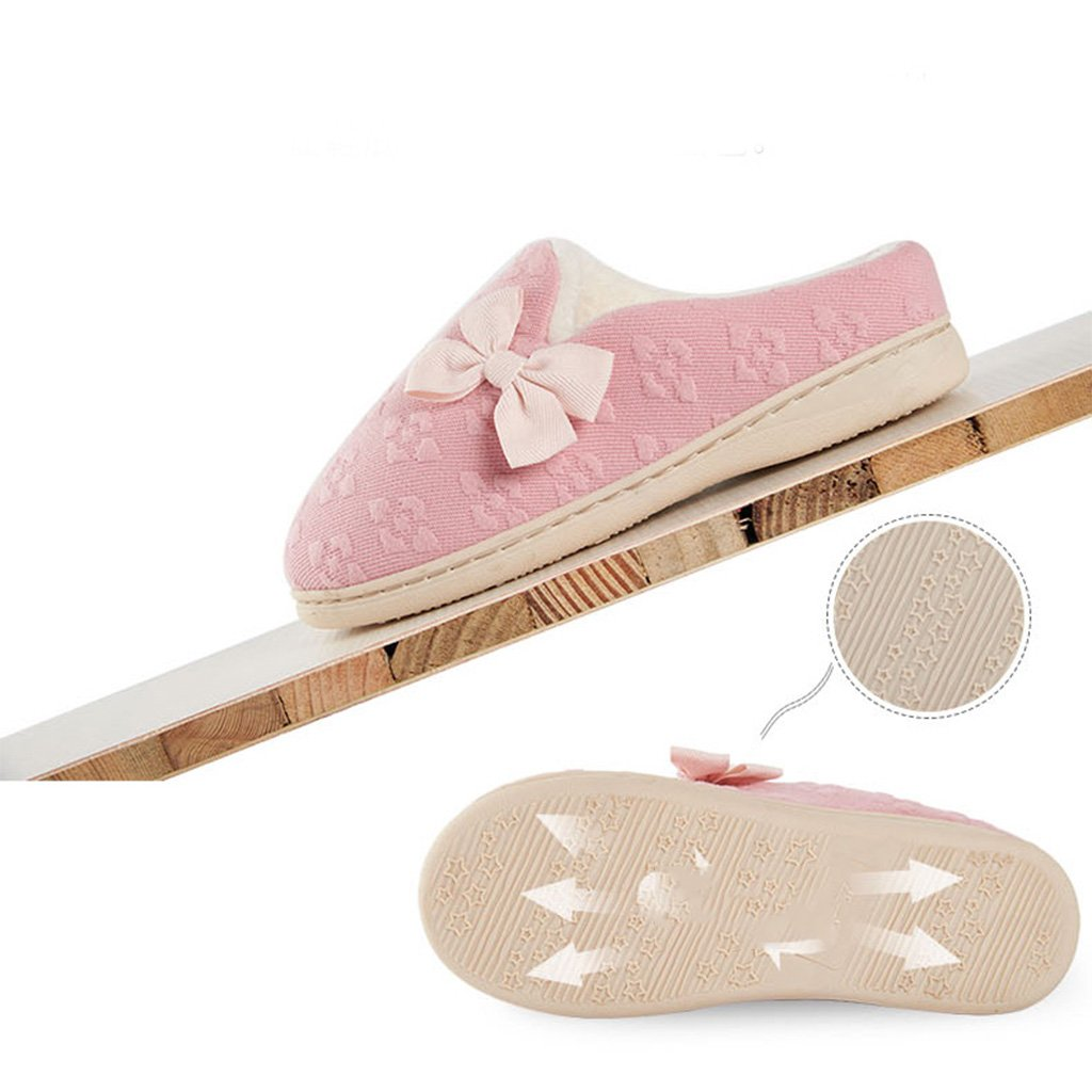 Zapatillas DWW Algodón Inicio Interior Antideslizante Acolchado Cálidos y Cómodos Zapatos Zapatos Cómodos Transpirables Impermeables fc6116