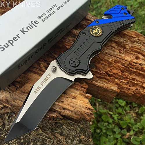 (Snake Eye Tactical US AIR Force Rescue Style Assisted Opening Knife with Clip)