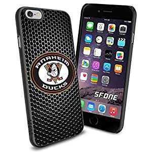 Anaheim Ducks Black Iron Net WADE1559 Hockey iphone 5 5s inch Case Protection Black Rubber Cover Protector