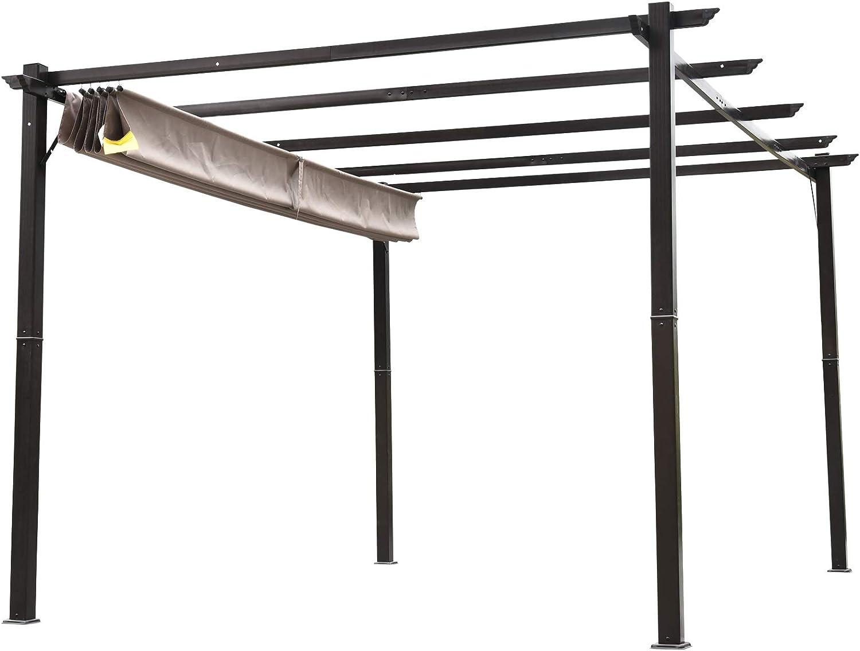 Outsunny - Toldo de aluminio para pérgola al aire libre ...
