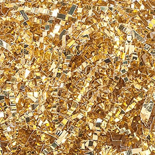 (10 LB Premium Gold Metallic Crinkle Shred Gift Basket Shred Crinkle Paper Filler Bedding by COTU (8 oz))