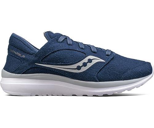 E7510 sneaker uomo wool SAUCONY KINETA RELAY blu scarpe lana shoe man