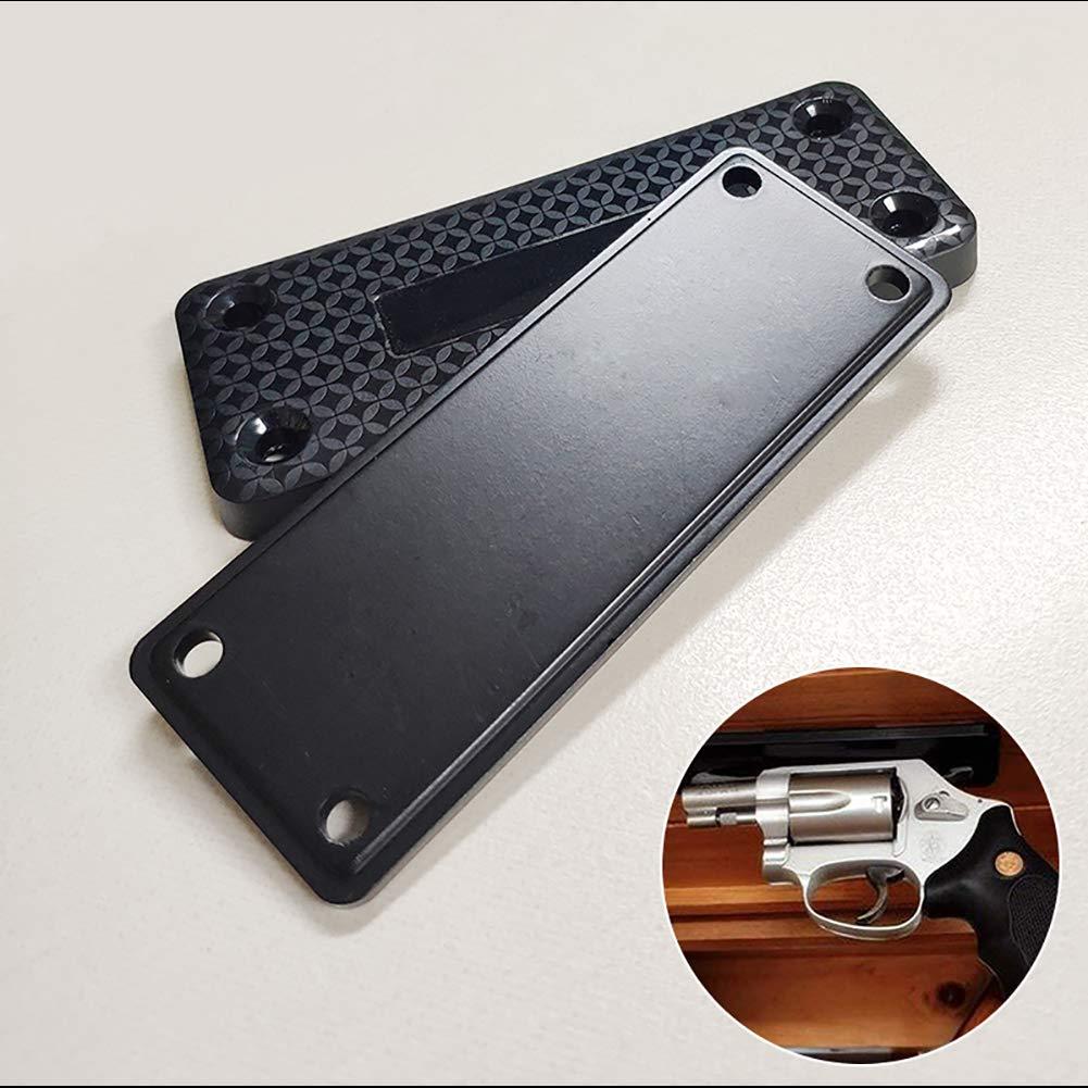 Hihey Porte-Aimant pour Pistolet Porte-Aimant Support dissimul/é pour l/étui magn/étique sous Le Bureau pour Glocks XDMs 45s
