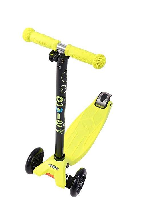 MICRO Maxi Micro T-Bar Patinete (desde 5 años) (Neon Yellow)