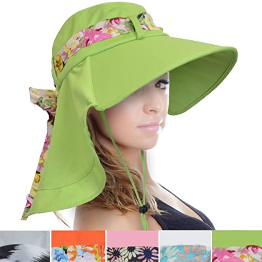 a03a0441 Tirrinia Women Wide Brim Adjustable Sun Hat for Safari Beach Hiking Camping  Grey