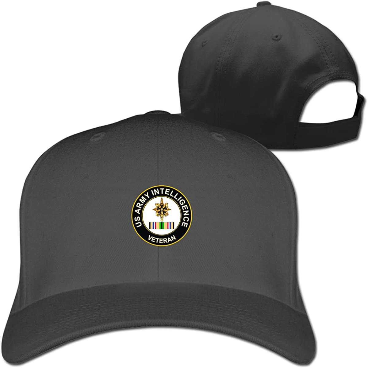 Kibio Military Vet Shop Magnet US Army Intelligence Corps Gulf War Veteran Cap Baseball Hat Adjustable Black