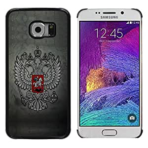 Caucho caso de Shell duro de la cubierta de accesorios de protección BY RAYDREAMMM - Samsung Galaxy S6 EDGE SM-G925 - Royal Gryphon Crest