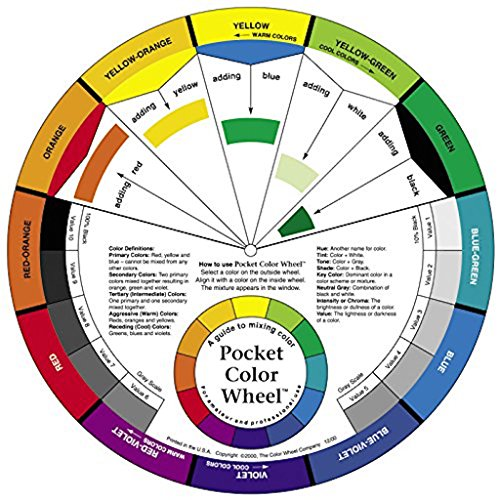 Color Wheel Small Color Mixing Guide, Pack of 3 ()