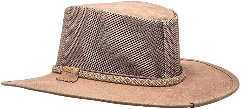 SOLAIR HATS The Breeze Mesh and Suede Sun Hat