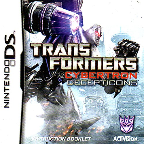 Transformers - War For Cybertron - Decepticons DS Instruction Booklet (Nintendo DS Manual ONLY - NO GAME) Pamphlet - NO GAME INCLUDED