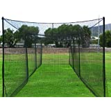 FORTRESS Ultimate Baseball Batting Cage [Net & Poles Package] - #42 Heavy Duty Net with Steel Uprights (20', 35', 55', 70')