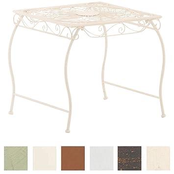 CLP Table de Jardin Carrée ZARINA | Table de Balcon de Style Nostalgique en  Fer Hauteur 46 cm | Table de Terrasse à 4 Pieds Stable | Meuble de Jardin  ...