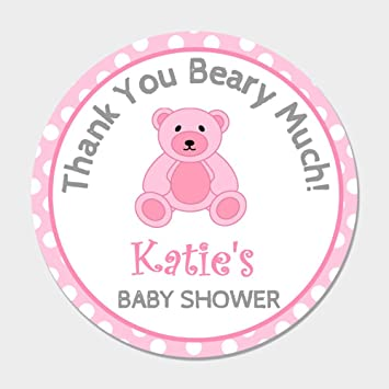 Amazon 40 Personalized Pink Teddy Bear Baby Shower Favor