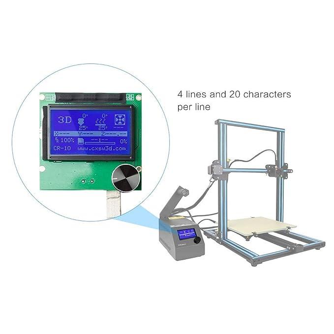 2004 Pantalla de Controlador de Pantalla LCD con Cable Para Reprap ...