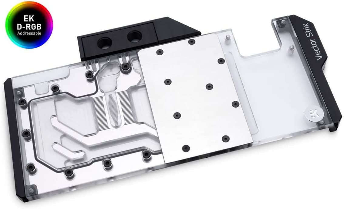 EKWB EK-Quantum Vector Strix RTX 2080 Ti GPU Waterblock, Digital RGB, Nickel/Plexi