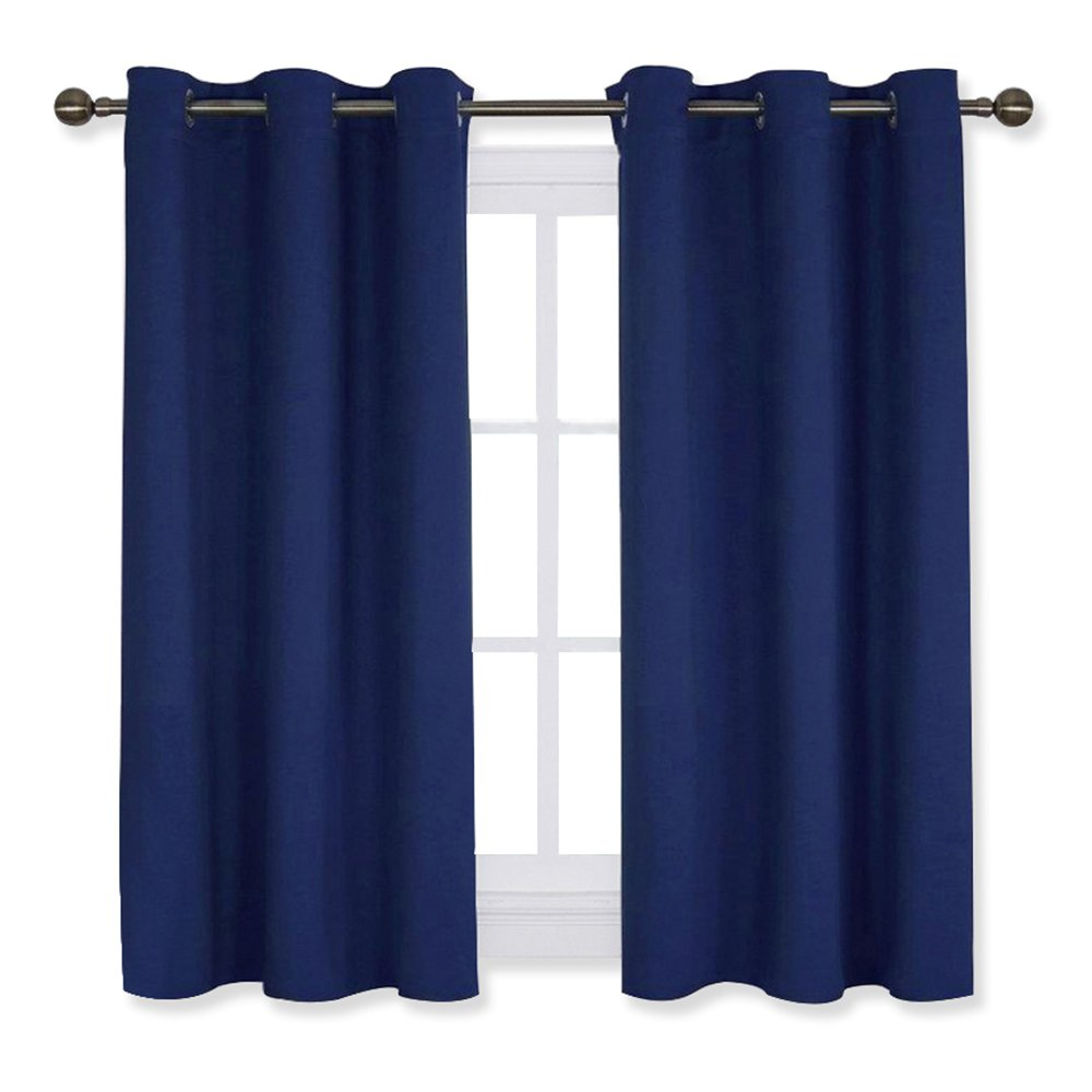 Blackout Curtain Panels Living Room - Nicetown Thermal Insulated Grommet Blackout Draperies/Drapes Window (2 Panels, W42 x L45 -inch,Beige) Nicetown_Blackout_Petit