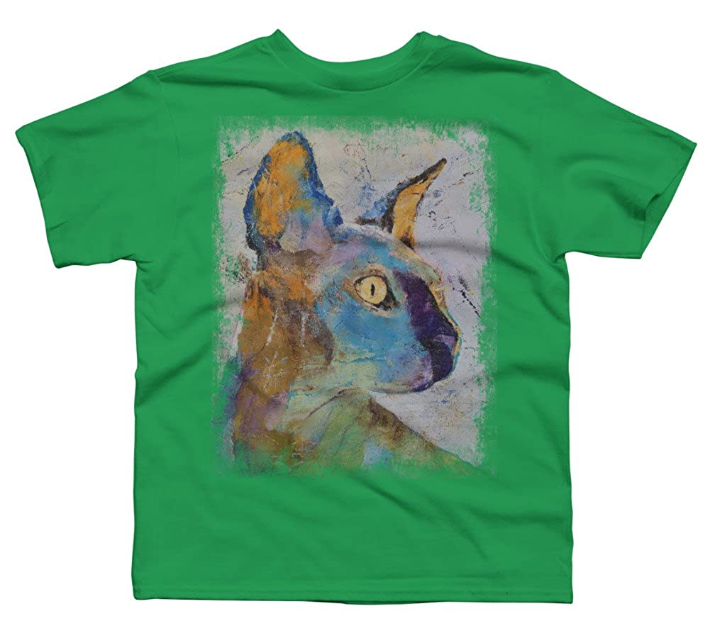 Design By Humans Sphynx Cat Boys Youth Graphic T Shirt