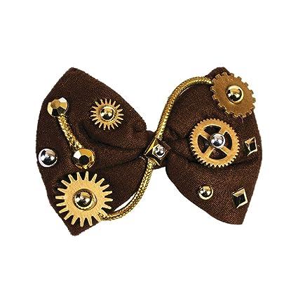 amazon com forum novelties steampunk bowtie brown bow tie victorian